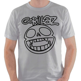 Camiseta Gorillaz Banda Logo Símbolo Camisa Blusa