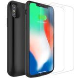 Case Bateria Iphone X De 6000mah Com 2 Películas De Vidro