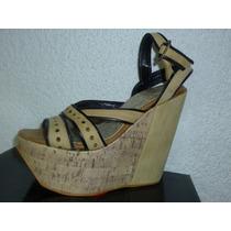 Plataformas Corcho Corre Lola Cuero Art 1763 $399 Talle 39