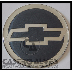 Emblema Adesivo Colante Roda 51mm / 5,1cm Gm Prata / Chumbo
