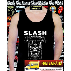 Camiseta Regata Slash Milles Kennedy Camisa Guns Roses Verao