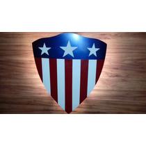 Escudo Luminaria Do Capitão América