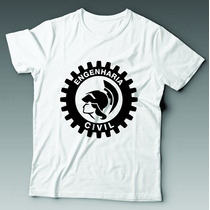 Camiseta Universitária Engenharia Civil Personalizada 2
