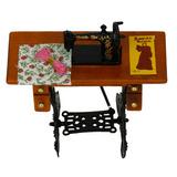 1/12 Máquina De Coser Miniatura Mueble Vintage Accesorio Pa