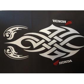 Capa De Banco Para Moto Honda Personalizada 3d Tribal Branco