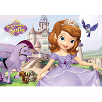 Painel Em Lona Princesa Sofia 2,00x1,40 Maravilhoso!