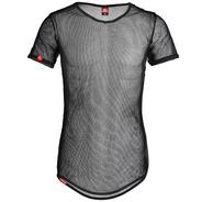 Camiseta De Tela Transparente Longline Masculina Vcstilo