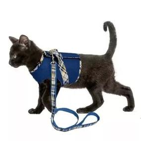 Peitoral E Guia Para Gatos Aerado Macio Para Passeio