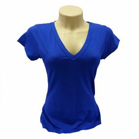Camiseta Baby Look Feminina Gola V De Viscolycra