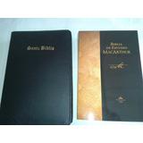 Biblia De Estudio Macarthur Con Forro Económica