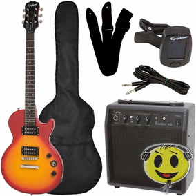 Guitarra Epiphone Les Paul Special Kit Completo Heritage Cs