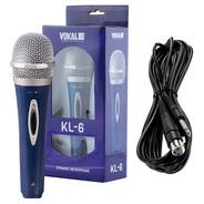Microfone Profissional Videokê Com Fio Karaôke C/nf Full Kl6