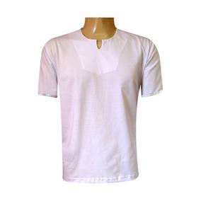 Bata Blusa Masculina Umbanda E Candomblé 100% Algodão Branca