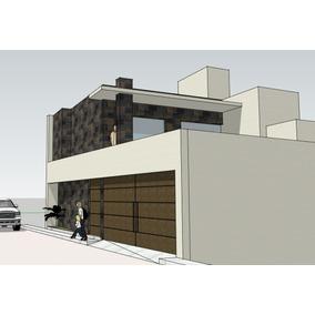 Planos De Casa 2 Rec. Para Terreno 12x12 M. En Pdf Y Autocad