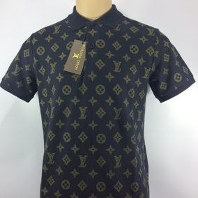 Camisa Polo Louis Vuitton Tecido Personalizado Puro Algodão