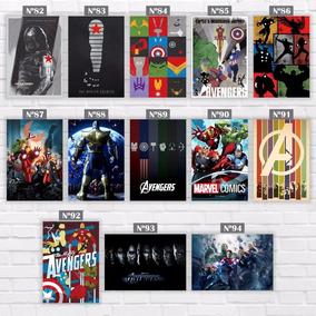 Placas Decorativas Festa Vingadores Homem De Ferro Marvel