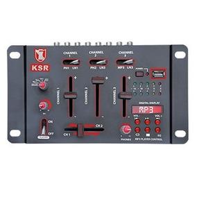 Mezcladora 3 Canlaes Entradas Usb Mp3 Microfonos Y Audifonos