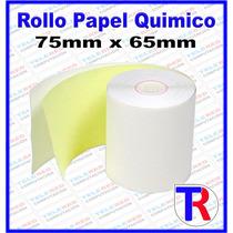 Rollo Papel Quimico 75mm X 65mm Para Impresora Fiscal