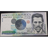 Billete Colombia $ 20.000 Pesos Capicua - Radar Unc
