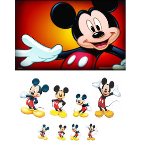Kit Display Chão Mickey 8 Pçs + Painel 2,00x1,50. Envio 48hs