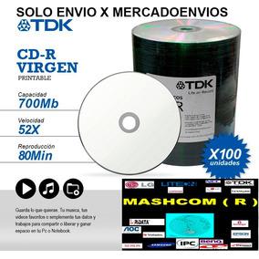 Cd Tdk Printables X 600 - ( Unicamente X Mercadoenvios )
