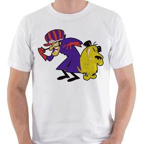 Camiseta Dick Vigarista Muttley Nostalgia Camisa Blusa