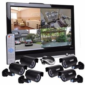 Sistema De Seguridad 6 Cam Monitor 19 Pulgadas 8ch Internet