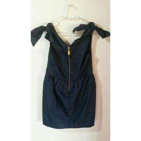 Vestido Em Tafetá Azul Marinho Da Marca Julia Jabour Novo