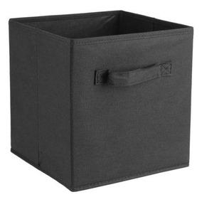 Black - 6 Pc Inicio Caja Hogar Organizador Tela Cubo Cu-5642