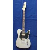 Fender Blacktop Tele Hh Silver Rosewood 2010 Mim