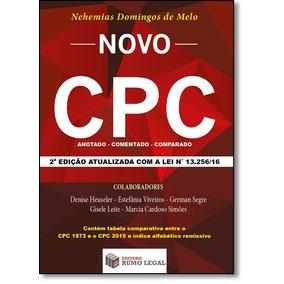 Livro - Novo Cpc: Anotado, Comparado, Comentado