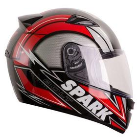Capacete New Spark Bolt - Preto/vermelho