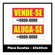Placa Aluga | Vende - Eucatex 60x40cm