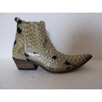 Bota Bot Passo Livre Texana Alladim C Estamp Anaconda Clara