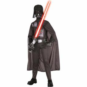 Fantasia Darth Vader Luxo Infantil Star Wars Longa + Máscara