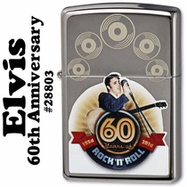 Encendedor Zippo Elvis Rock And Roll 60 Aniversario Unico