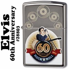 Encendedor Zippo Elvis Rock And Roll 60 Aniversario Unico