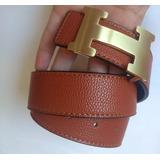 7632124fef7 Cinto Hermes Duplaface Caramelo Com Preto Fiv Dourada Top