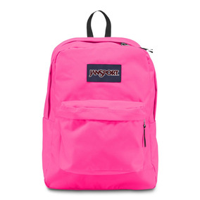 Mochila Jansport Superbreak Rosa Fluorescente