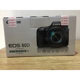 Canon Eos 80d + Efs 18-135mm, Nueva!