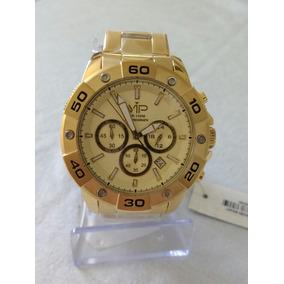 Relógio Masculino Dourado Mh-314d Vip Nautilus Original.