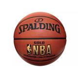 Balon Basketball Spalding Nba Gold Cuero 100 % Original