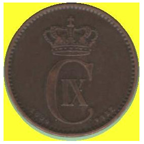 Dinamarca- 2 Ore 1894 Bronce Estado Xf.