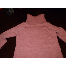 Sweater Polera Rosa Larguito M O L Ideal Calzas