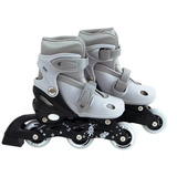 Patin Roller Extensible Gris Mor Talle M 35 A 38