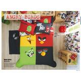 Juego De Edredón/sábanas Matrimonial Angry Birds Con Tapete