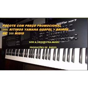 1000 Ritmos Yamaha Gospel + 300 Midis Top 10