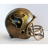 Escultura Mini Casco Texanos De Houston Nfl Importada