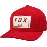Gorra Trace Flexfit Roja Motocross Moto Atv Fox Juri