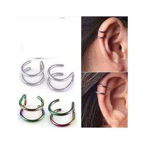 Joyeria Ear Cuff Acero Piercing Falso Para Oreja C/e